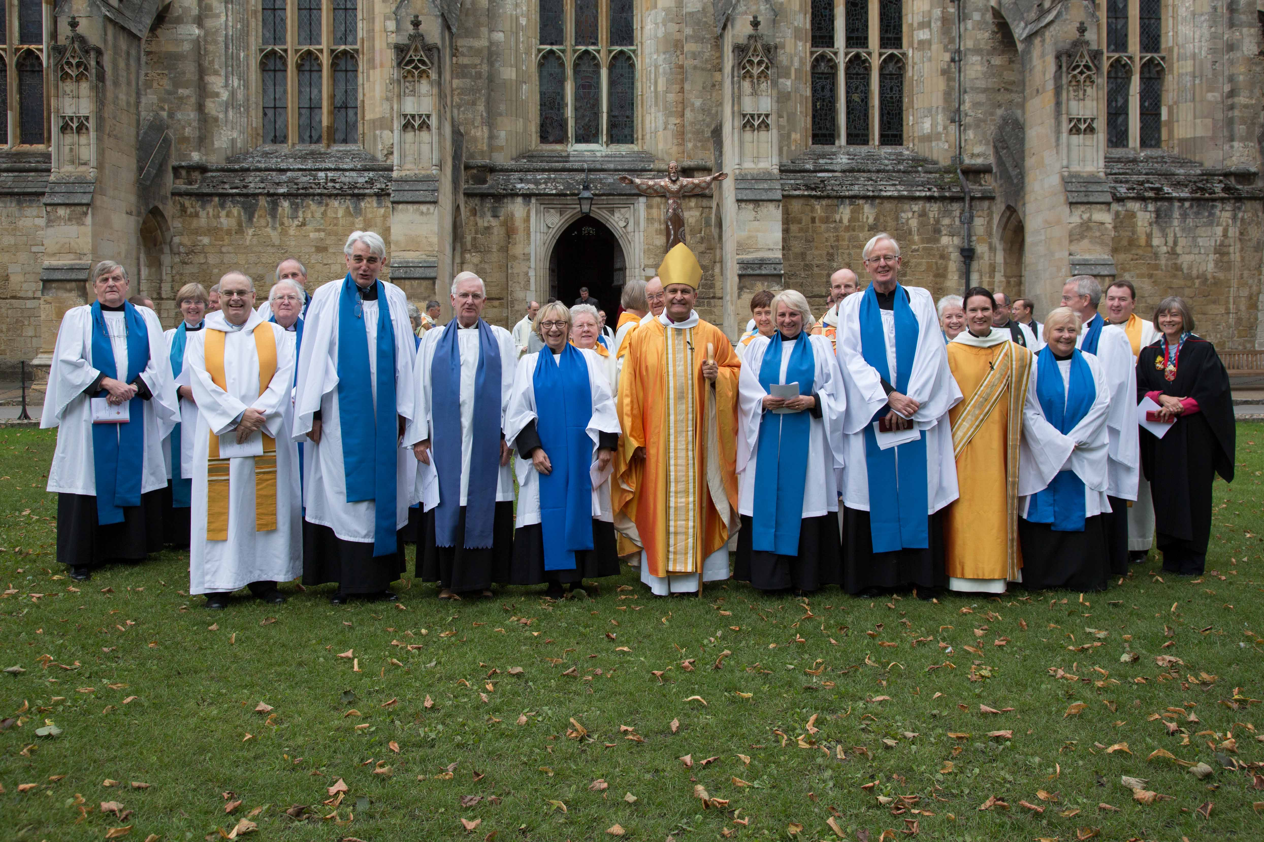 Bishop Jonathan Frost with new lay ministers
