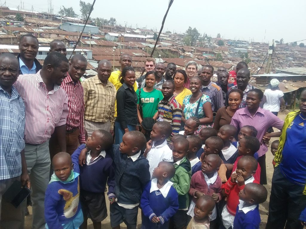 Bishop Tim meeting students and staff from the Centre for Urban Mission, Kibera