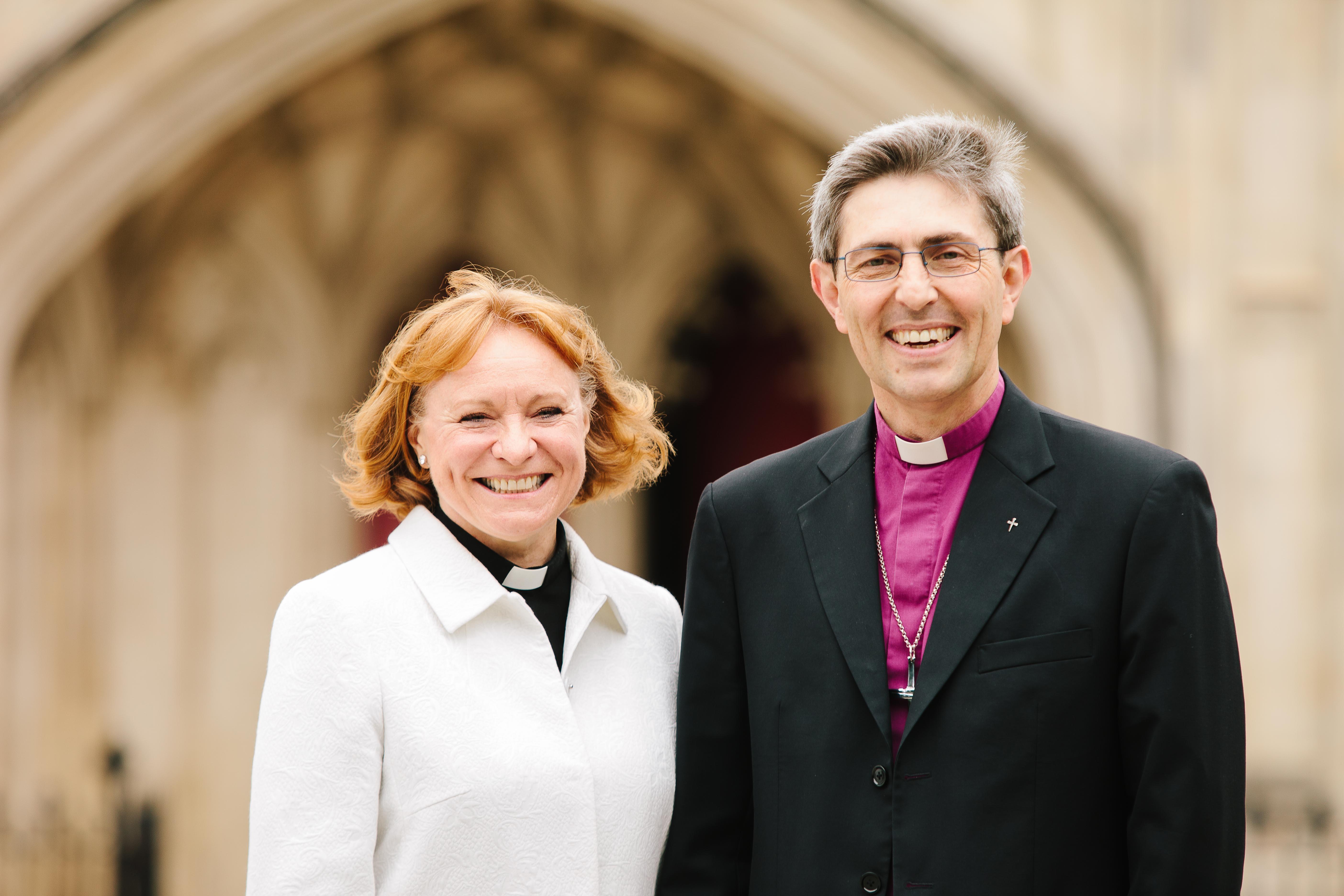 Catherine Ogle and Bishop Tim