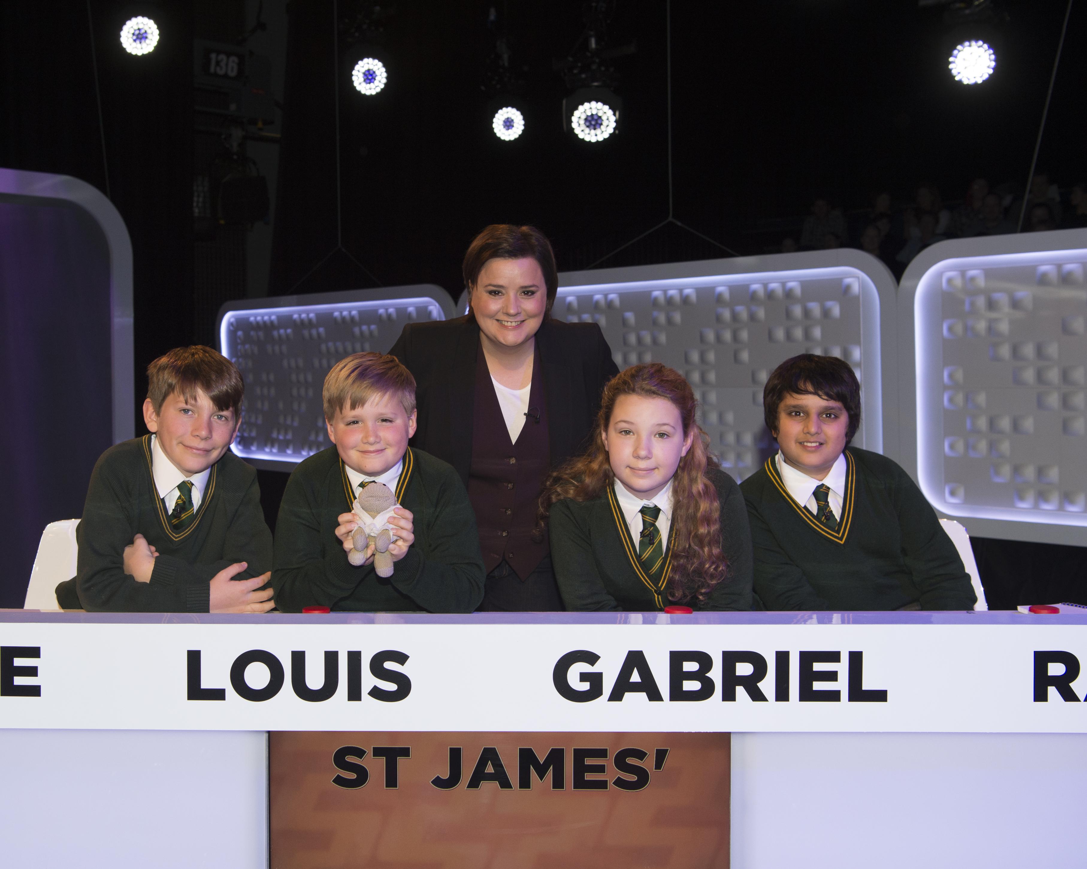 The St James team with host Susan Calman
