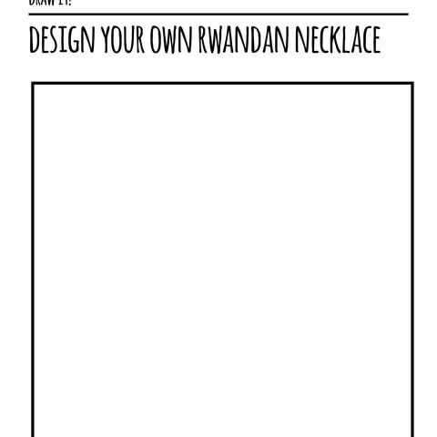 Rwanda Series - Draw it - Necklace
