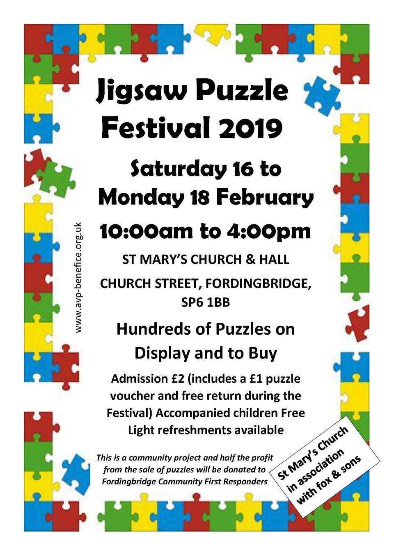 Jigsaw festival poster