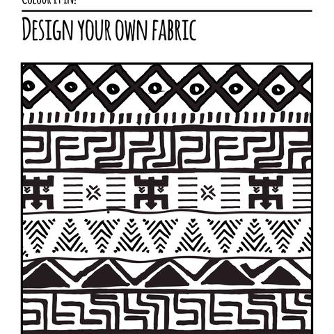 Rwanda Series - Colour it in - Fabric