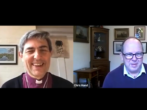 Bishop Tim in conversation with Chris Hand, CEO of the YMCA Fairthorne Group