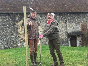 St John's Church Winchester plants orchard 'to provide for residents'