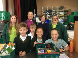 Bishop of Southampton speaks out about food poverty after visiting Bournemouth Foodbank