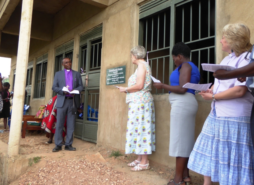 Bishop Dan blessing Health centre staff accommodation