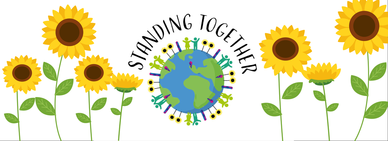 Standing together banner