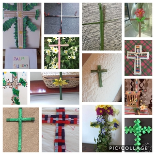 Palm Crosses created by church members from the Church of Christ the King and St Peter's Church.